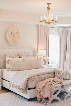 Master Bedroom Decor: a Cozy & Romantic Master Bedroom Dream Master Bedroom, Romantic Master Bedroom, Farmhouse Master Bedroom, Master Bedroom Makeover, Woman Bedroom, Cozy Bedroom, Bedroom Decor, Bedroom Ideas, Bedroom Modern