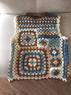 Blanket, Diy, Crochet Kids Hats, Vest Coat, Recipes, Scrappy Quilts, Crocheting, Tejidos, Dressmaking
