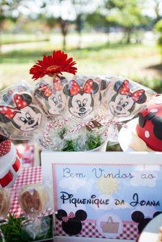 Biscoitos decorados da Minnie