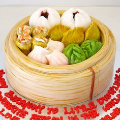 is it real dim sum, or just fondant? Anime Cake, Always Hungry, Dim Sum, Fancy Cakes, Dumpling, Fondant Cakes, Cake Art, Custom Cakes, 30th Birthday