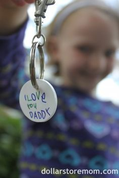 For when he's older~ Yes, definitely : ) DIY Keychain Craft! #keychains