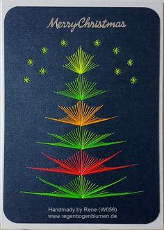 Grußkarten-Set Weihnachten 056 - Motiv: Weihnachtsbaum 11NEON - Copyright Motiv: M.Sinkovcz - Doppelkarte mit Umschlag Format A6