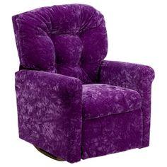 Violet kids rocker recliner.