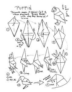 可以給他們著色 Origami Penguin, Kids Origami, Origami Paper Art, Origami Bird, How To Make Origami, Origami Folding, Origami Animals, Origami Easy, Paper Folding