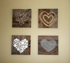 Renew, Create, Restore: Pallet Heart Art