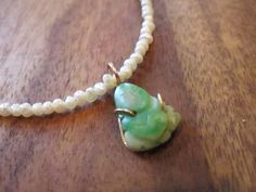 Jade & Pearl Buddha Necklace by livinglotusgroup on Etsy Turquoise Necklace, Jade, Buddha, Pearl Necklace, Pearls, Unique Jewelry, Handmade Gifts, Etsy, Vintage