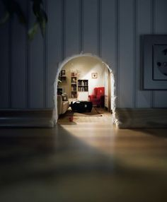 Adorable furnished mouse hole