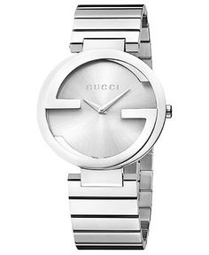 Gucci Watch, Women's Swiss Interlocking Stainless Steel Bracelet 37mm YA133308 - Women's Watches - Jewelry & Watches - Macy's