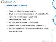Nombre del dominio de la presentación de www.creandowebconsulting.es