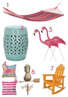 colorful patio accessories