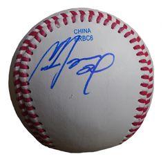 Cameron Maybin Autographed Rawlings ROLB1 Leather Baseball, Proof Photo