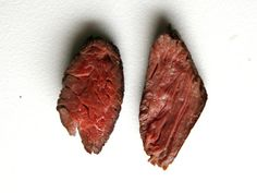 Can you spot the difference between the two hanger steaks? They were both cooked to a perfect 130°F medium-rare in the same pan, both cut from the same piece of meat, and both sport a beautiful brown, crackly crust. Yet one of them is more tender than Otis Redding on a good day, while the other has more in common with a rubber band. What's the difference? It's all got to do with the angle at which it's sliced.