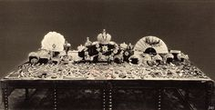 Famous Russian Jewels | The famous photograph of the Romanov treasures taken by the Bolsheviks ...