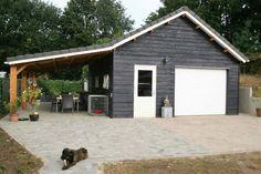 Pole Barn Garage, Carport Garage, Garage Attic, Garage Building Plans, Garage House Plans, Building A Shed, Shed Design, Garage Design, Farmhouse Sheds