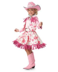 pink cowgirl girls costume