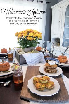 Celebrate the changing season with a breakfast or brunch celebrating the flavors that are unique to that season. What a fun idea!