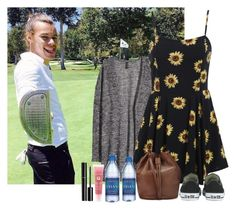 """Watching Harry golf"" by sychie ❤ liked on Polyvore featuring H&M, Converse, Whistles, Chanel, Lancôme, women's clothing, women, female, woman and misses"
