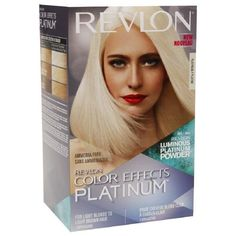 For blondes looking to go to the next level, this formula contains a platinum powder to speed up bleaching. Plus jojoba seed oil conditioner helps to baby hair that's gone through this ultra lightening process...  Revlon Color Effects Platinum, $11