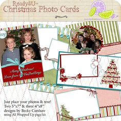 do it yourself premade printable photo cards $10.00 for 5 designs!