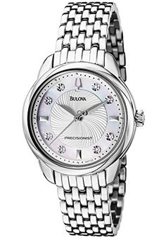 Women's Wrist Watches - Bulova 96P125 Womens Precisionist White Diamond 008 ctw Stainless Steel *** Read more reviews of the product by visiting the link on the image.