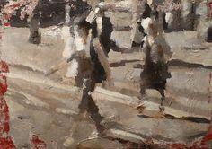 Cordusio | oil and acrylic on canvas | cm 33x48| 2009 | Luigi  Christopher Veggetti Kanku