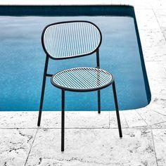 Black White Piper Chair   Indoor & Outdoor Metal Furniture   DesignByThem   GibsonKarlo