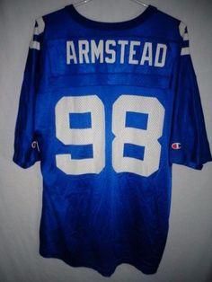 VTG New York Giants Jesse Armstead men s blue jersey Champion size 44   Champion  NewYorkGiants 35abcedc6