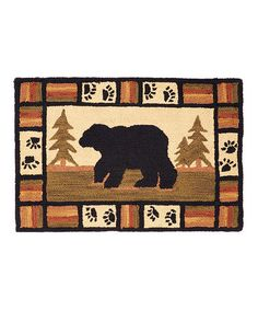 Love this Adirondack Bear Hook Rug on #zulily! #zulilyfinds