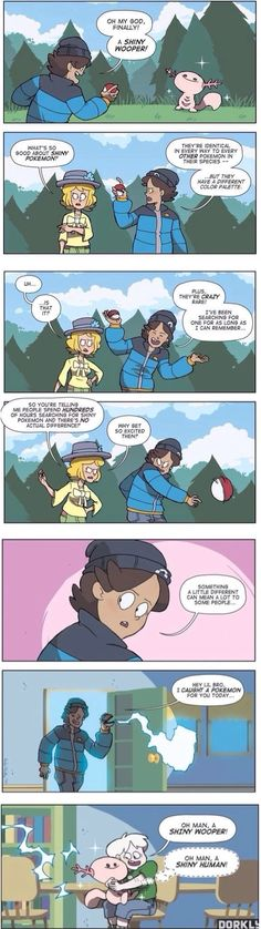 "The One Trainer Who Has a Reason for Catching Shiny Pokémon<<and the Pokemon is all like ""shiny human"" XD Pokemon Comics, Pokemon Memes, Pokemon Fan, Cute Pokemon, Pokemon Stuff, Pokemon Shaming, Izu, Pokemon Pictures, Funny Pictures"