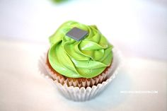 Lime and Grey cupcake