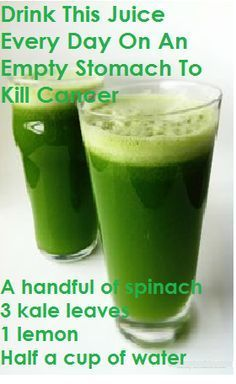 Drink This Juice Every Day On An Empty Stomach To Kill Cancer