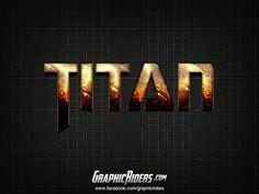 Style Text Effect Titan