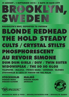 BROOKLYN, SWEDEN the world's first all-Brooklyn band music festival in Sweden.