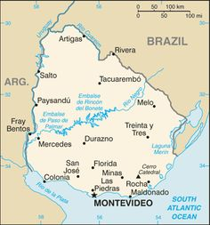 In terms of land area, Uruguay is the second smallest country in South America. It is situated between Brazil and Argentina and borders the . Montevideo, Teacher Exchange Programs, Chile, Country Information, Lds Mission, Western Coast, Library Of Congress, Atlantic Ocean, Social Media