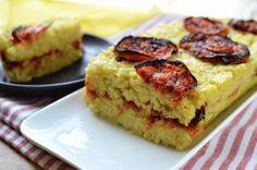 פשטידת אורז ועגבניות צלויות