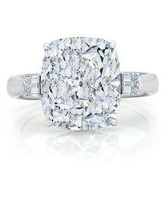 7.24 carat cushion cut Diamond Ring (Perfect! 7.24 is my birthday too!)