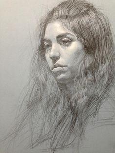 Daniel Bilmes, portrait drawing