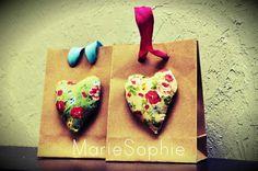 Craft bag#floral heart#μπομπονιέρα#κέρασμα#www.mariesophie.gr