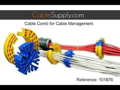 Bundling Ethernet Cable with the Cable Comb and Terminating a Patch Panel - YouTube