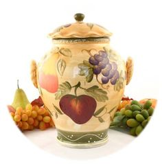fruit decor for kitchen amazon undermount sink 196 best images kitchens home art flowers tuscany grape wine cookie jar canister 1 pc ack http