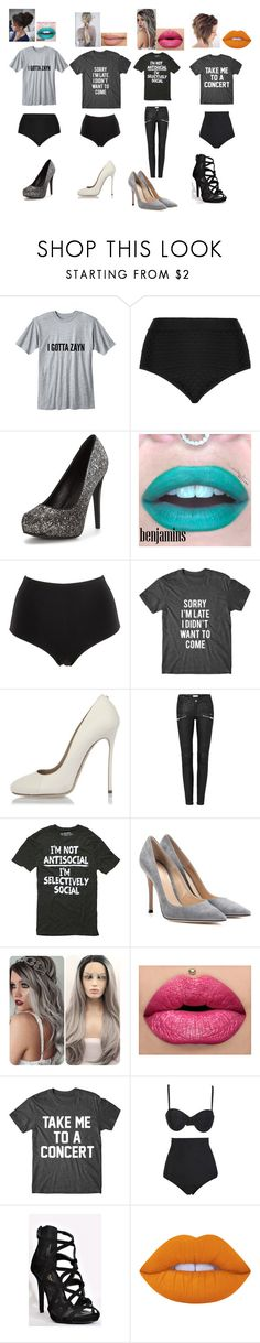 """P-6"" by jennebear ❤ liked on Polyvore featuring Cactus, La Perla, Dsquared2, Gianvito Rossi, Beach Riot and Lime Crime"