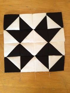 Modern Half-Square Triangle Quilt-a-Long Block 17