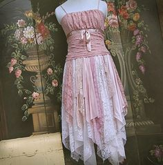Pink Lace Gypsy Dress by GallimaufryClothing, $130.00