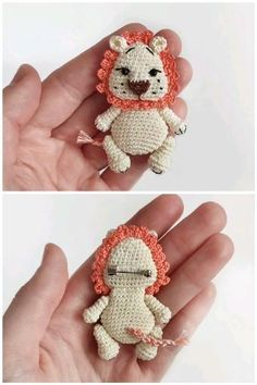 Lion Crochet, Crochet Animals, Crochet Baby, Crochet Patterns Amigurumi, Crochet Dolls, Crochet Keychain Pattern, Crochet Brooch, Crochet Bookmarks, Crochet Basics