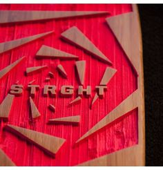 #STRGHT hand engraved for grip.