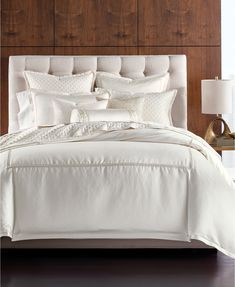 Hotel Collection CLOSEOUT! Ivory Luxe Border Bedding Collection, Created for Macy's & Reviews - Bedding Collections - Bed & Bath - Macy's King Comforter, Queen Duvet, Duvet Bedding, Textured Bedding, Apartment Decoration, Hotel Collection Bedding, Space Furniture, Mattress Brands, My New Room