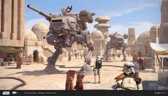 - Star Wars Stormtroopers - Ideas of Star Wars Stormtroopers - Star Wars Rpg, Star Wars Ships, Figuras Star Wars, Imperial Walker, Edge Of The Empire, Dark Empire, Starwars, Star Wars Vehicles, Star Wars Concept Art