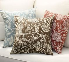 Tori Floral Outdoor Pillow | Pottery Barn