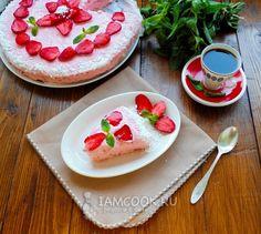 Фото клубничного торта «Облако»