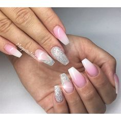 White Ombré Nails by MargaritasNailz from Nail Art Gallery